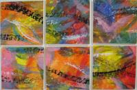 Kandinsky inspired colourful inchies