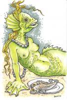 Mermaid with Tasty Snacks