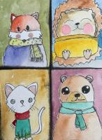 Animals in Scarves Swap