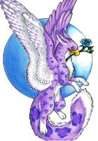 Purple Snow Leopard Gryphon