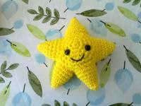 Yellow Amigurumi Star