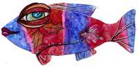 The mixed media malicious fish swap