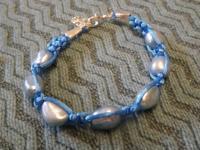 #38 Freshwater pearl macrame bracelet