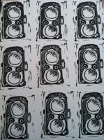 Rolleiflex Camera Block Print