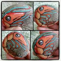 """""""Shrimp"""" for Painted Stone Swap"""