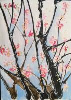 Cherry Tree ATC for Paint-Athon 2013