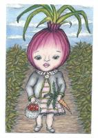 Whimsical Veggie Postcard