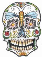 Sugar Skull shaped atcs