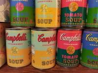 Warhols 50th anniversery soup cans