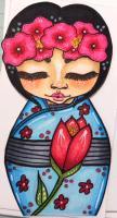 Floral Kokeshi Doll for karenr