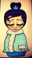 Winter Kokeshi Doll