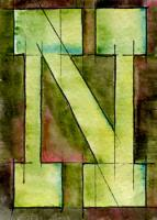 Typography - the letter N