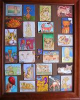 Colllection of orange Tabby ATC's