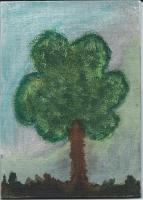 March 5x7 Canvas Acrylic Tree