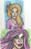 Whimsical Girl Postcards