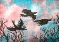 #1 Crows at Sunset
