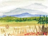Miniature Watercolor Mountain...