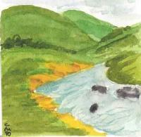 Miniature Watercolor Peaceful...