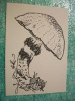 pen and ink mushroom