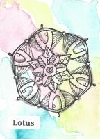 Lotus zentangle design