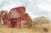 Watercolor Challenge  4x6 postcards with a barn