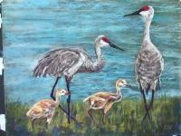 Sandhill Crane painting for...