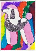 """ATCs for Swaps - """"PINK POODLES"""" handdrawn/handpainted ATC Swap, due August 10"""