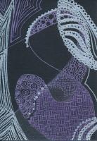 purple zentangles on black