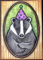 Badger's Birthday Portrait - MMH for blackdog