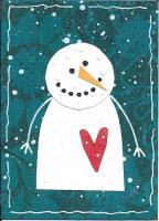 folik art snowman