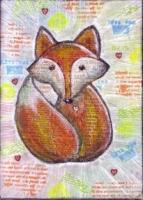 SEPTEMBER Canvas Board Mail Art Trade 5x7
