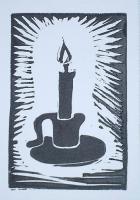 Block Print Candle
