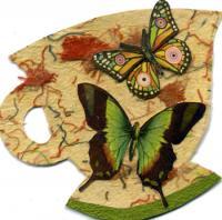 Butterflies teacup