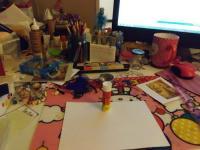 Hallowed ATART Messy art table...