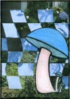 Mushroom on Woven Paper