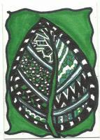 Leaf - Zentangle MMH - for Glitter