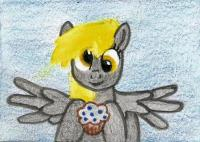 Derpy Gets A Blueberry Muffin!
