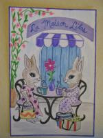 For Bunnies on Vacation Mail Art 4x6 Cards