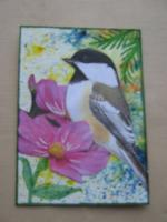 """""""Chickadee"""" for BIRDS and BLOOMS Swap"""