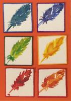Rainbow feather inchies