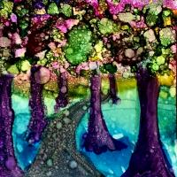 Water Forest (Alcohol Ink)