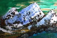 "4x6"" Postcard: Snowy Mountains"