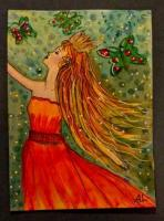 Hand Drawn Hand Painted ATCs