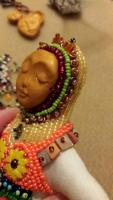 "Beaded Art Doll ""Zoe"""
