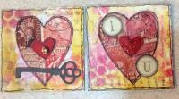 Mixed Media Valentine Twinchies