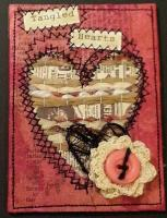 February - Mixed Media Hearts