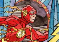 Superhero Stained Glass: The Flash