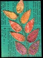 Fall Leaf Experiment - bronze glitter