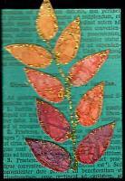 Fall Leaf Experiment - gold...