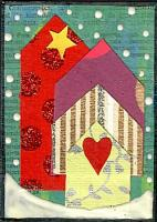 Whimsical Winter Houses Red...